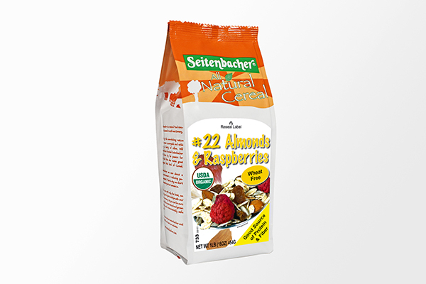 All Natural Cereal #22 Almonds & Raspberries - 16oz