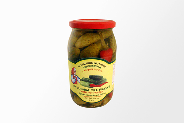 Dill Pickles with Hot Pepper - 32fl oz